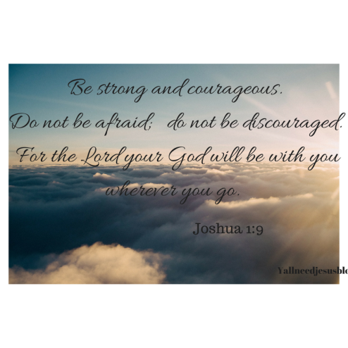 Be strong and courageous. Do not be afraid; do not be discouraged. For the Lord your God will be with you wherever you go.-5