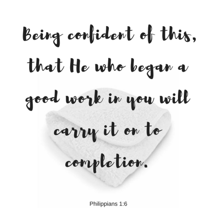 _Being confident of this, that He who began a good work in you will carry it on to completion.
