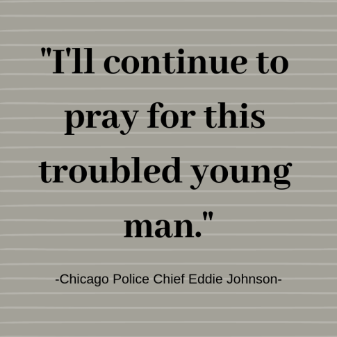 I'll continue to pray for this troubled young man.